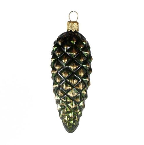 Cone en verre vert